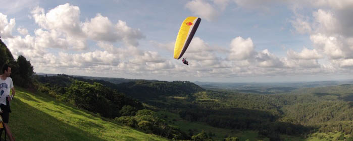 paragliding from mountain